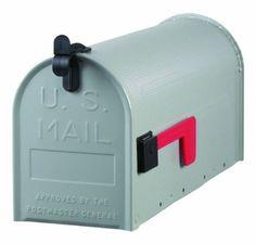 U.S. Postmaster General Approved Standard Size Galvanized Steel Rural Mailbox