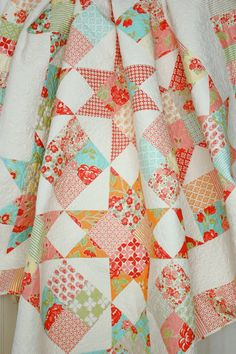 Marmalade Star Quilt - Lap Quilt for Two or Twin Size Coverlet - Large Lap Quilt. $350.00, via Etsy.