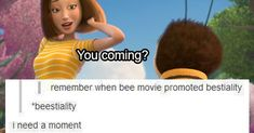 whY IS EVERYONE SUDDENLY TALKING ABOUT THE BEE MOVIE ALL THE TIME THO I DON'T GET IT