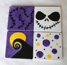 Nightmare Coaster set, created by customer at Color Me Mine Saucon Valley PA