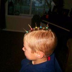 Crazy Hair Day At School, Crazy Hair Days, Boys With Curly Hair, School Boy, Curly Hairstyles, Little Boys, Blonde Hair, Short Hair Styles, Easy