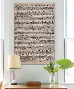 Sheet Music 'Ode to Joy' Gallery-Wrapped Canvas