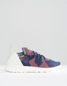 Adidas | Розовые вязаные кроссовки с принтом adidas Originals Zx Flux
