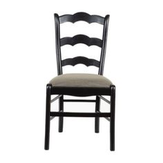 Genoa Side Chair   Chairs   Ballard Designs/ Kitchen chairs/ possibly color glaze (green?) or yellow or beige. We can customize the seat fabric