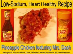 Slideshow: Recipe cooking tutorial for Pineapple Chicken featuring Mrs Dash – a low sodium heart-healthy recipe
