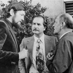 Julio Cortázar, Carlos Fuentes y Luis Buñuel en México.