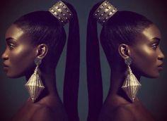 Dark Woman In Artistic Hair Art: Gaye Mcdonald -... - Black Girls | Ebony Babes | Beautiful Women