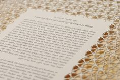 The CAIRO papercut ketubah / wedding vows 2 layers by RuthMergi, $590.00