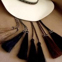 Cowboy Hat  Stampede String Looped: Natural colors http://knot-a-tail.com