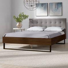 Queen Platform Bed, Wood Platform Bed, Upholstered Platform Bed, Adjustable Beds, Panel Bed, Bed Sizes, All Modern, Bedroom Furniture, Wood Bedroom
