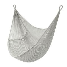 Color(s): Soft Heather Grey + Bright White Capacity: 330 lbs Dimensions: 4'W x 7'D Product Weight: 1.4 lbs Details: - Use it as a chair or kick back to enjoy a full-length hammock (stretches out to 6+
