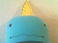 Mr Narwhal a stuffed Narwhal by Whatsinyourcellar on Etsy, $30.00