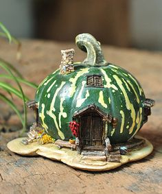 Look what I found on #zulily! Green Gourd Fairy House Décor by Top Collection #zulilyfinds
