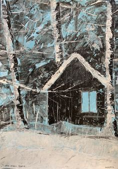 Cabin, House Styles, Home Decor, Painting Abstract, Decoration Home, Room Decor, Cottage, Interior Decorating, Cottages
