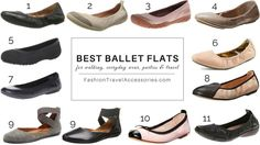 The best ballet flats for everyday wear, walking, travel, sightseeing, parties, events, weddings and for any outfits, jeans, skirts & dresses.