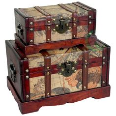 2 Piece Colonial Trunk Set