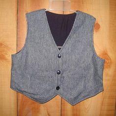 Engineer Conductor Train Railroad Vest size 4 | DoubleLLGifts - Children's on ArtFire