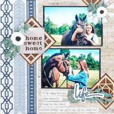 Feel at Home, Sweet Home With This Farmhouse Chic Scrapbook Layout – Creative Memories Blog