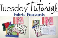 Fabric postcards tutorial