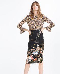 Imagem 1 de SAIA TUBO FLORES da Zara