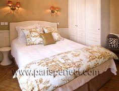 Toile de Jouy Fabric Bedspread
