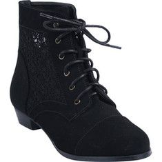 L & C Obert-1 - Black with FREE Shipping & Returns. The Obert-1 is a lace up ankle boot with a round toe. It features mesh