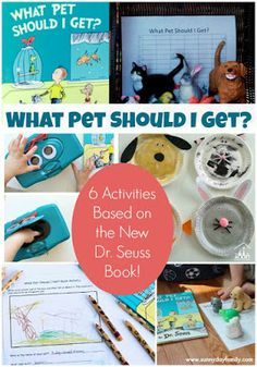 Match the Pets: Preschool Learning Game Based on What Pet Should I Get? Plus 5 more fun activities for kids based on the new Dr. Seuss book!