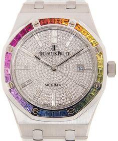 Royal Oak Rainbow Automatic Diamond White Gold Unisex Watch