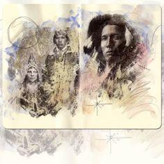 Tribe #moleskine, #sketch, #journalling