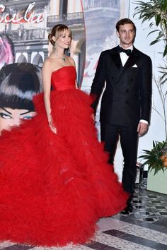 MONTE-CARLO, MONACO - MARCH 19: Beatrice Borromeo-Casiraghi and Pierre Casiraghi attend The 62nd Rose Ball To Benefit The Princess Grace Foundation at Sporting Monte-Carlo on March 19, 2016 in Monte-Carlo, Monaco. (Photo by Pascal Le Segretain/Getty Images)