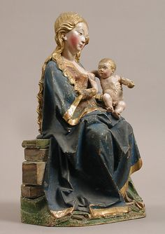 Enthroned Virgin with Nursing Child (late 15th century, Metropolitan Museum, New York)
