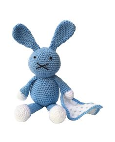 The Crafty Kit Co Baby Blue Bunnyamigurumi crochet kit