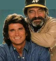 "Michael Landon and Victor French from ""Highway to Heaven"". A great pair of actors who starred in a positive and heartwarming series from the Michael Landon, Michael Jackson, Great Tv Shows, Old Tv Shows, Victor French, Mejores Series Tv, Cinema Tv, Elvis And Priscilla, Actrices Hollywood"