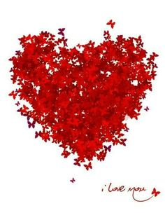 I love you.... Butterfly Heart