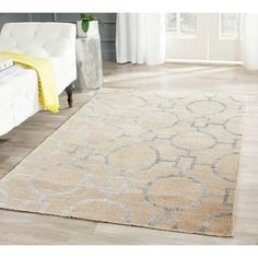 Shop for Safavieh Hand-Knotted Stone Wash Beige Wool/ Cotton Rug (4' x 6'). Get free shipping at Overstock.com - Your Online Home Decor Outlet Store! Get 5% in rewards with Club O!