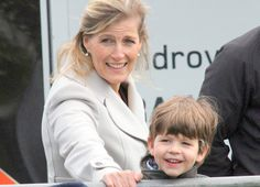 5/13/2012: Sophie, Countess of Wessex & James, Viscount Severn arrive at the Windsor Horse Show (Windsor, Berkshire)