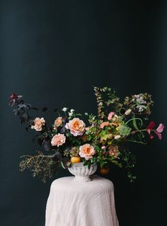 fall centerpiece. michael radford photograph. plenty of petals workshop