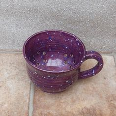 Hand Thrown - Dark Pink Speckle - Stoneware Berry Bowl / Colander by Caractacus Pots on Gourmly