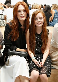 Julianne Moore and her daughter - the best hair genes in the world