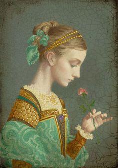 First Rose ~ James C. Christensen