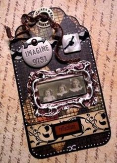 Very ornate altered tag.