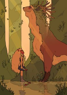 Cool Art: 'Princess Mononoke' by Katie O