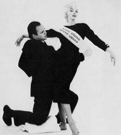 Marlon and Marilyn, photo by Milton Greene, 1955