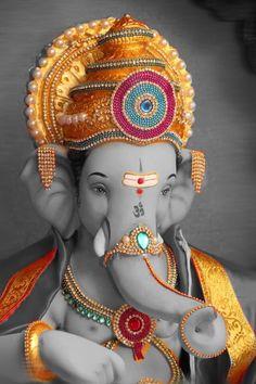 Ganesh bhagwan plus size wedding gowns - Wedding Gown Jai Ganesh, Ganesh Lord, Ganesh Idol, Shree Ganesh, Ganesha Art, Ganesha Sketch, Shri Ganesh Images, Ganesha Pictures, Lord Ganesha Paintings