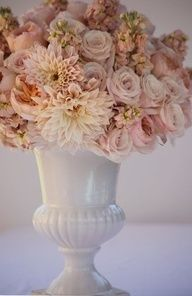 Two of my favorite things....milk glass & flowers..