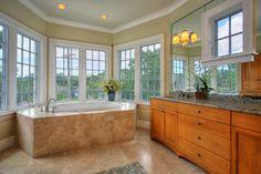 simple tile around tub