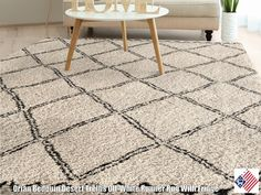 Desert Trellis off White offers a relaxed take on trellis patterns in soft neutral tones. Use this plush, shag rug with fringe to create a comfortable space with a confident design.