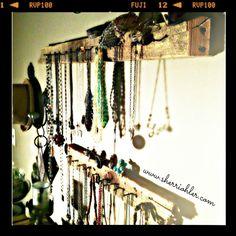 DIY Rustic Barnwood Jewelry Organizer