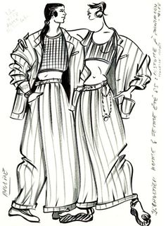 Original Sketch by Jean Paul Gaultier by FIT Library Department of Special Collections, via Flickr