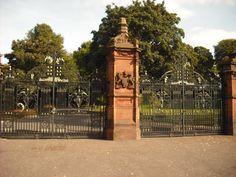 Entrance gates to the Ormeau Park, 2009